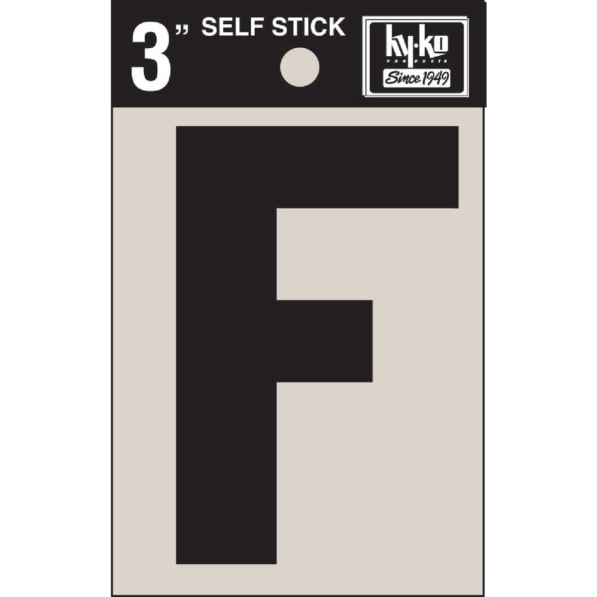 """3"""" BLK VINYL LETTER F"""