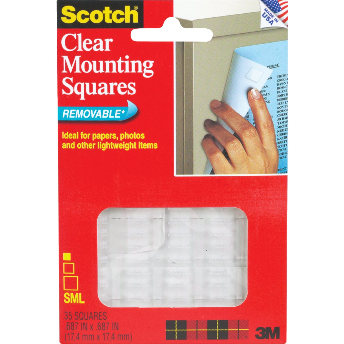 35PK CLR MOUNTING SQUARE - 859 by 3m Co