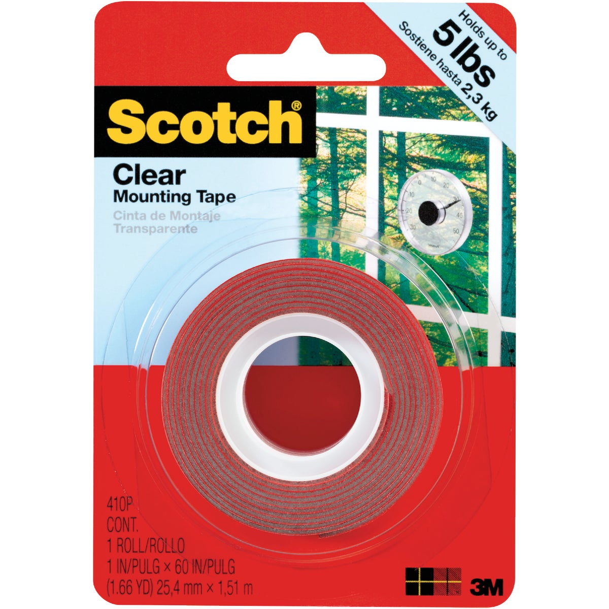 1X60 CLR MOUNTING TAPE - 410DC by 3m Co