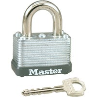 Master Lock 1-1/2 In. Wide Self-Locking Steel Swivel Shackle Padlock, 22KA
