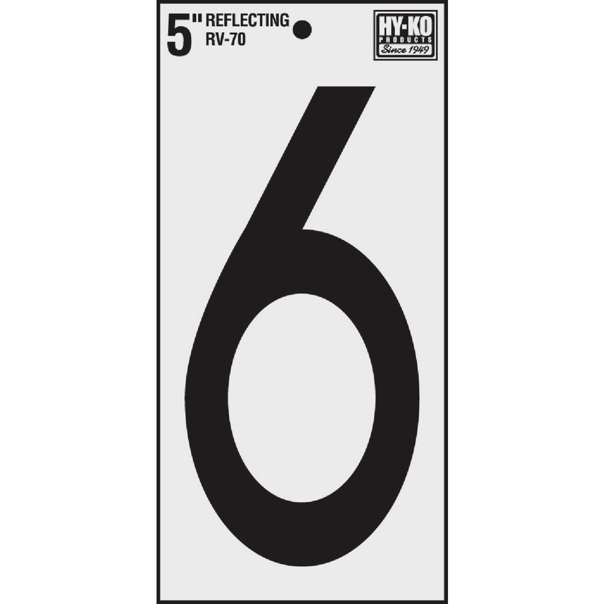 """5"""" REFLECT NUMBER 6"""