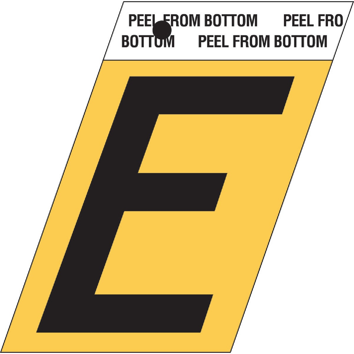 "1-1/2""GOLD ALUM LETTER E - GR-10/E by Hy Ko Prods Co"