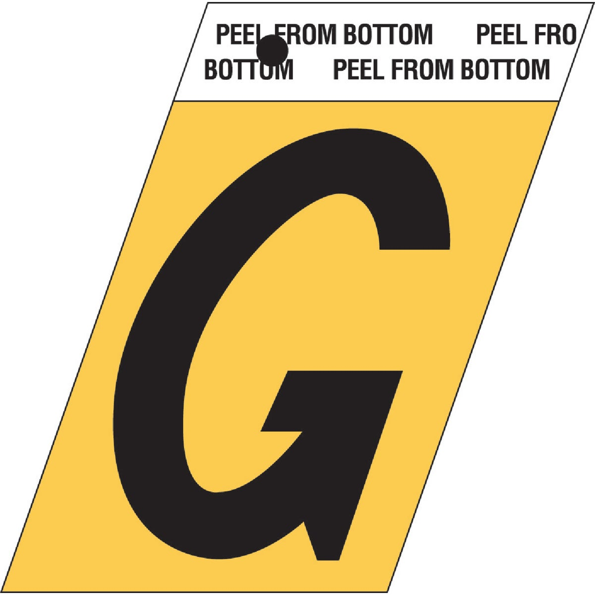 "1-1/2""GOLD ALUM LETTER G - GR-10/G by Hy Ko Prods Co"