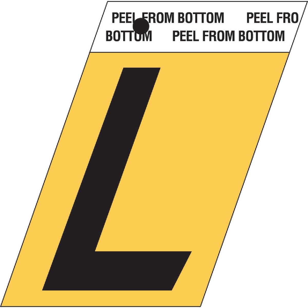"""1-1/2""""GOLD ALUM LETTER L"""