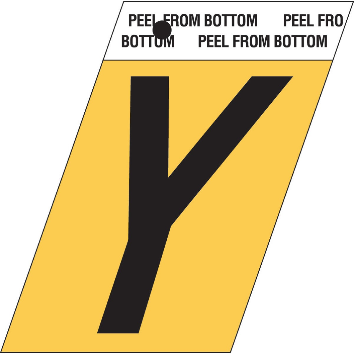 "1-1/2""GOLD ALUM LETTER Y - GR-10/Y by Hy Ko Prods Co"