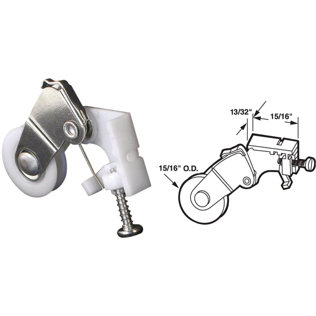 SLD DOOR ROLLER ASSEMBLY - 111770 by Prime Line Products