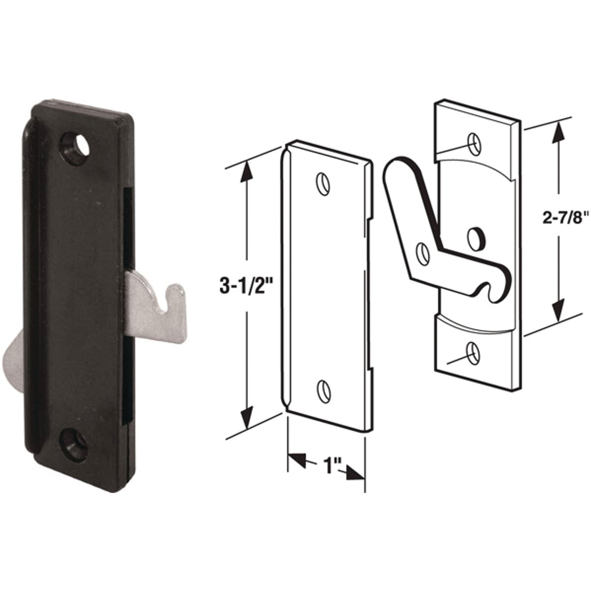 SCREEN DOOR LATCH - 12138 by Prime Line Products
