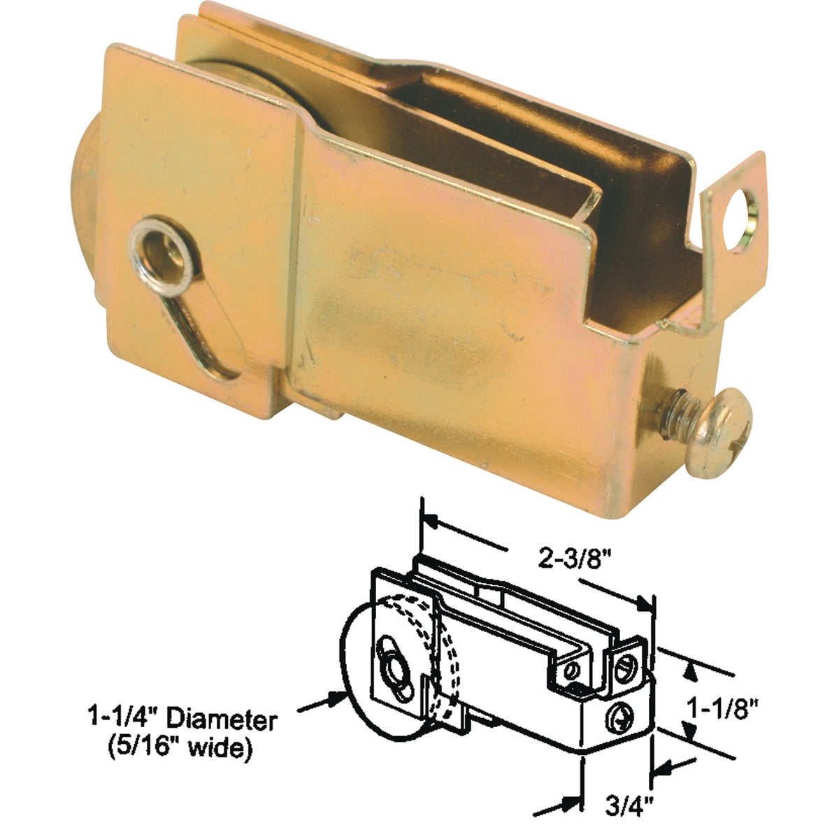ADJUSTABLE BOTTOM ROLLER - 13171 by Prime Line Products
