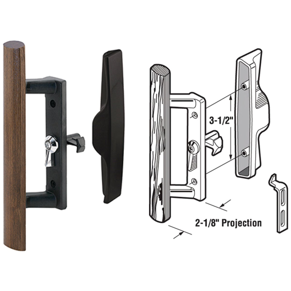 SLIDING DOOR HANDLE SET