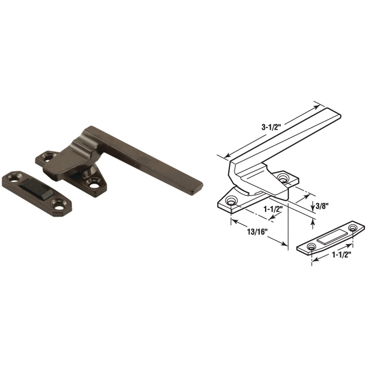 CASEMENT LOCKING HANDLE - 171924-L by Prime Line Products