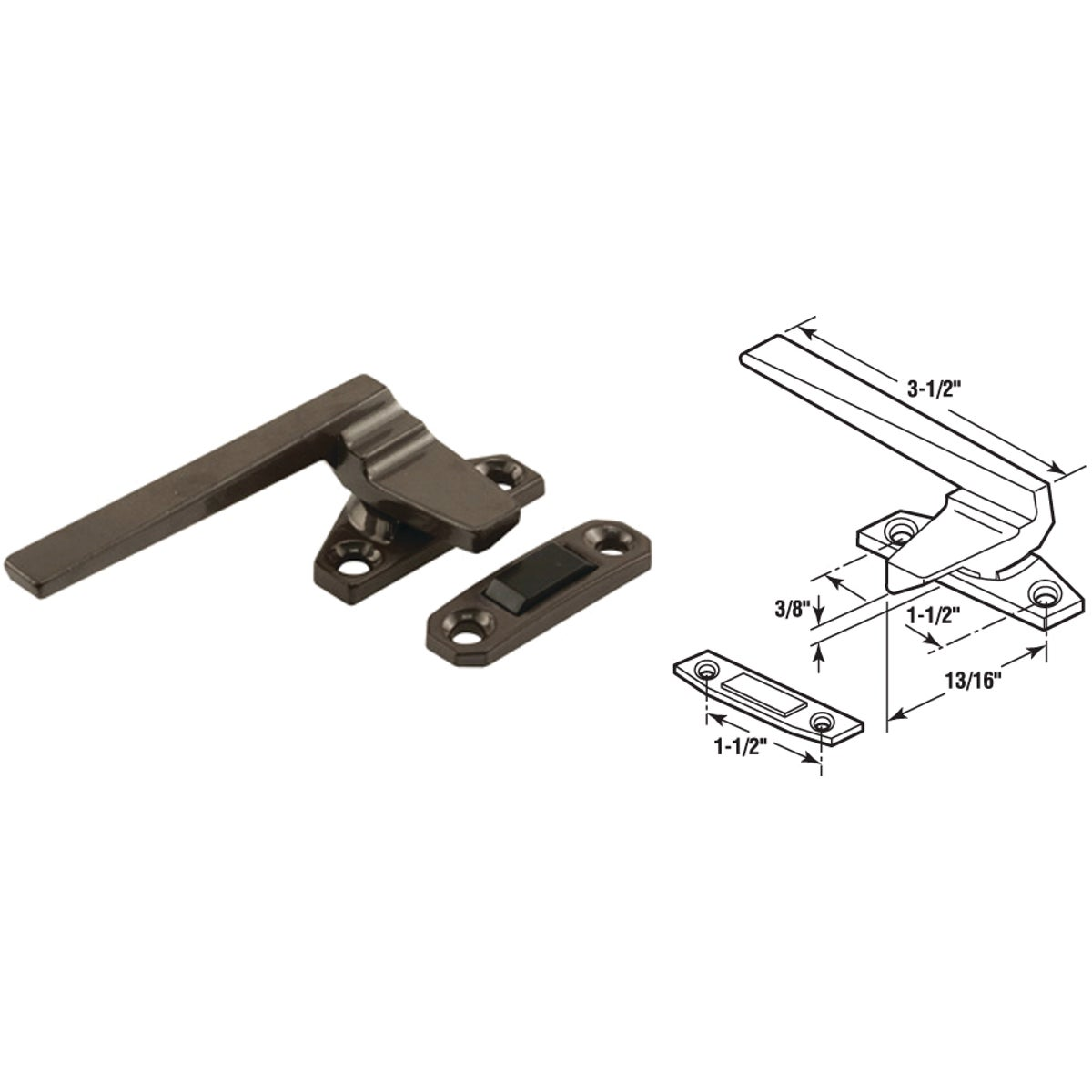 CASEMENT LOCKING HANDLE - 171924-R by Prime Line Products