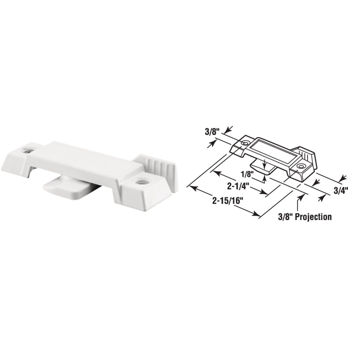 WH SLD WINDOW SASH LOCK - 171949-W by Prime Line Products