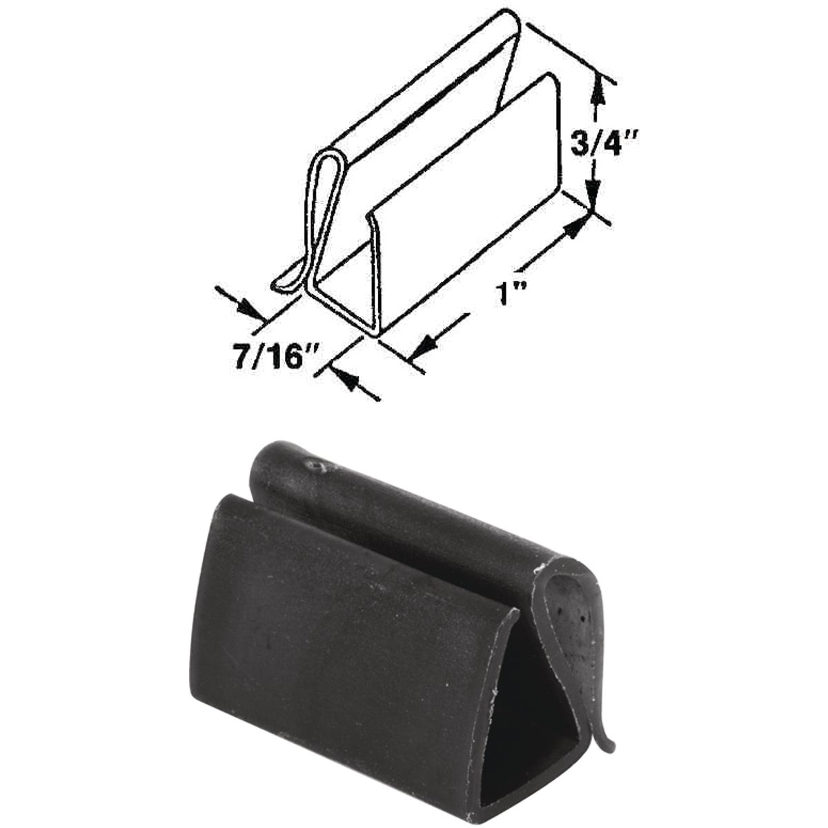WIND SCREEN PLASTIC CLIP - 1890 by Prime Line Products