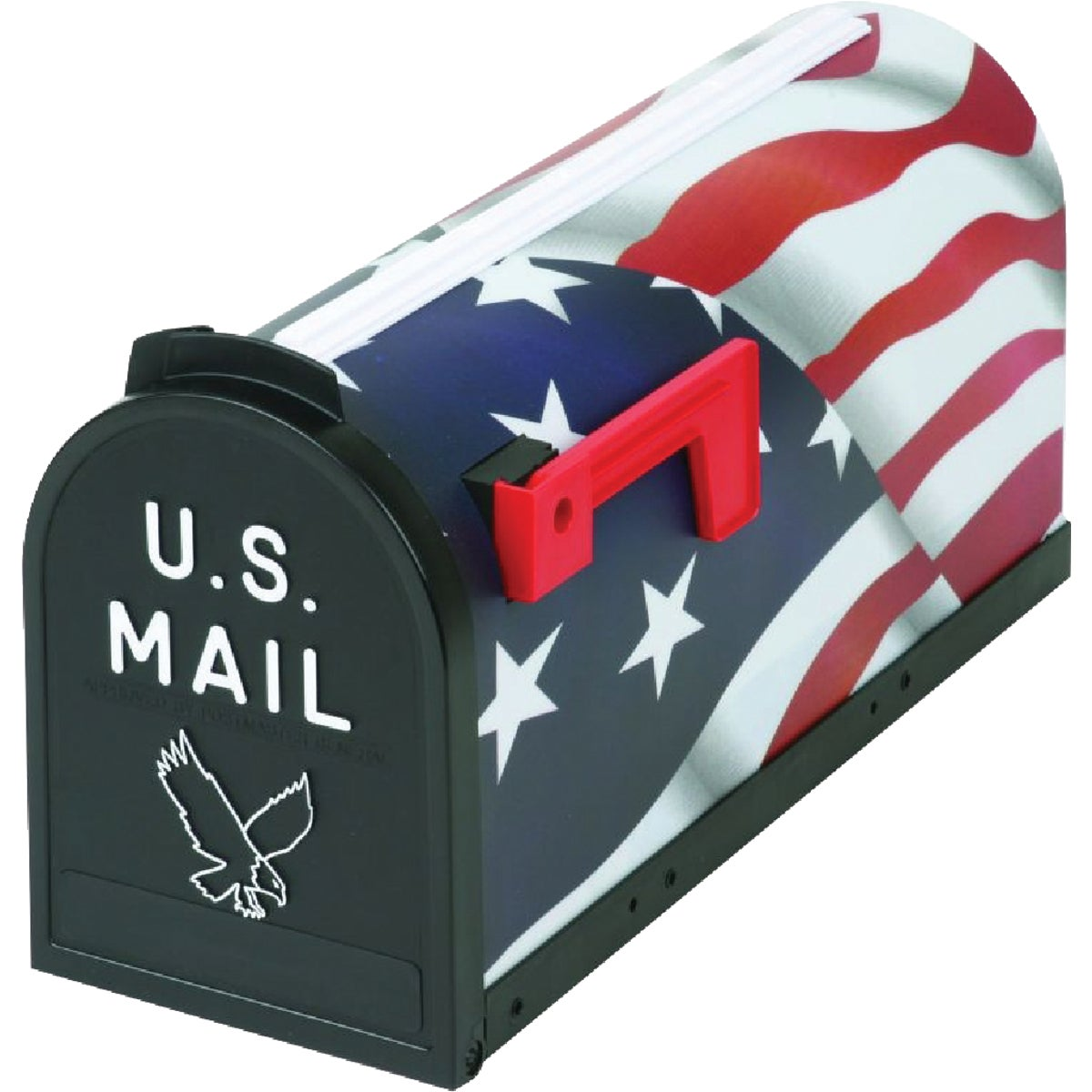Flambeau T2 American Flag Post Mount Mailbox
