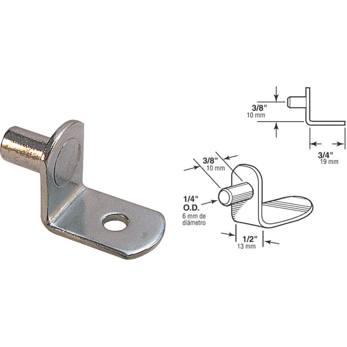 NICKEL SHELF PEG - 241941 by Prime Line Products