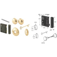 DEFENDER SECURITY Vertical Placement Bit Key Trim Lock, E 2437