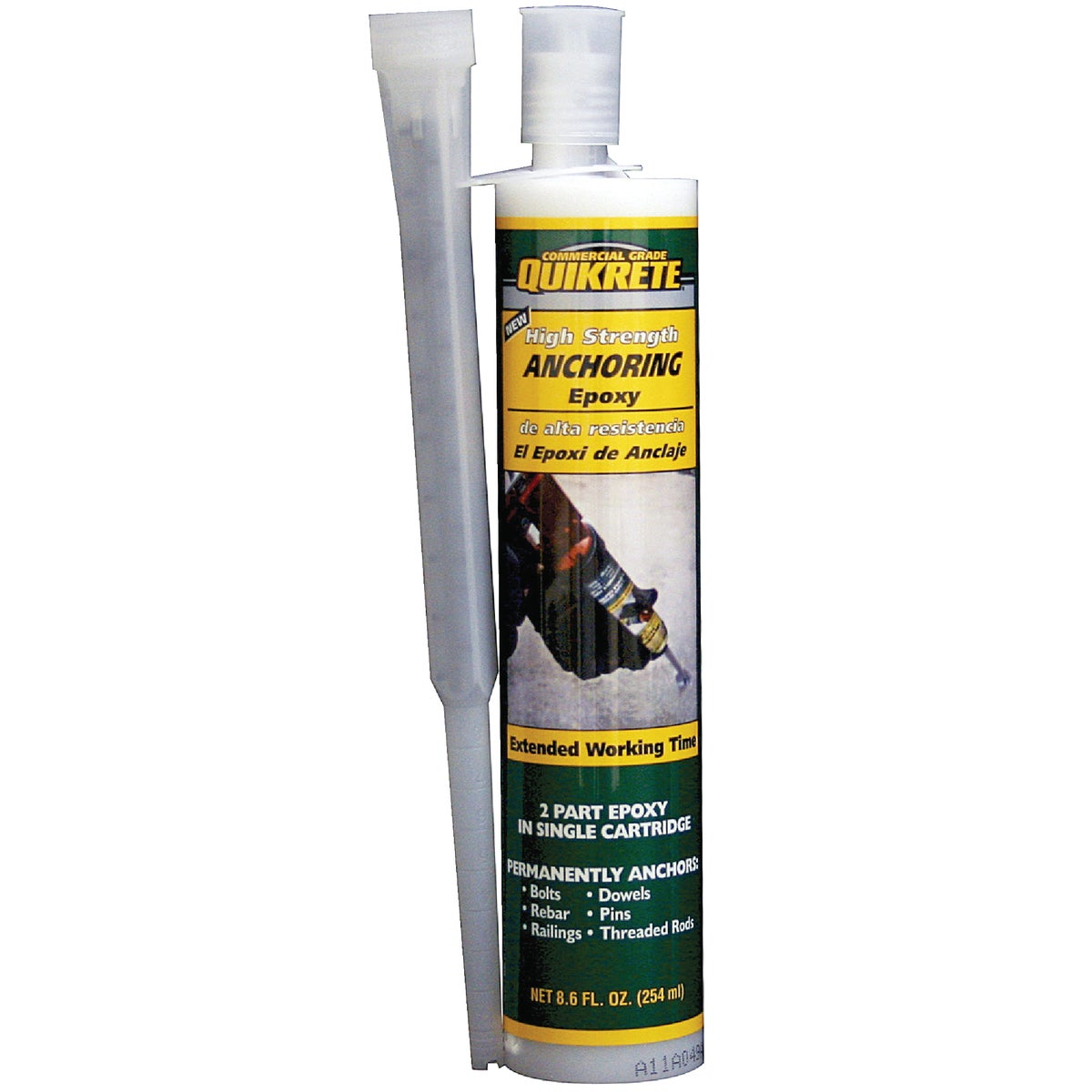 Quikrete 862031 High Strength Anchor Epoxy, 8.6 oz Size, Gray