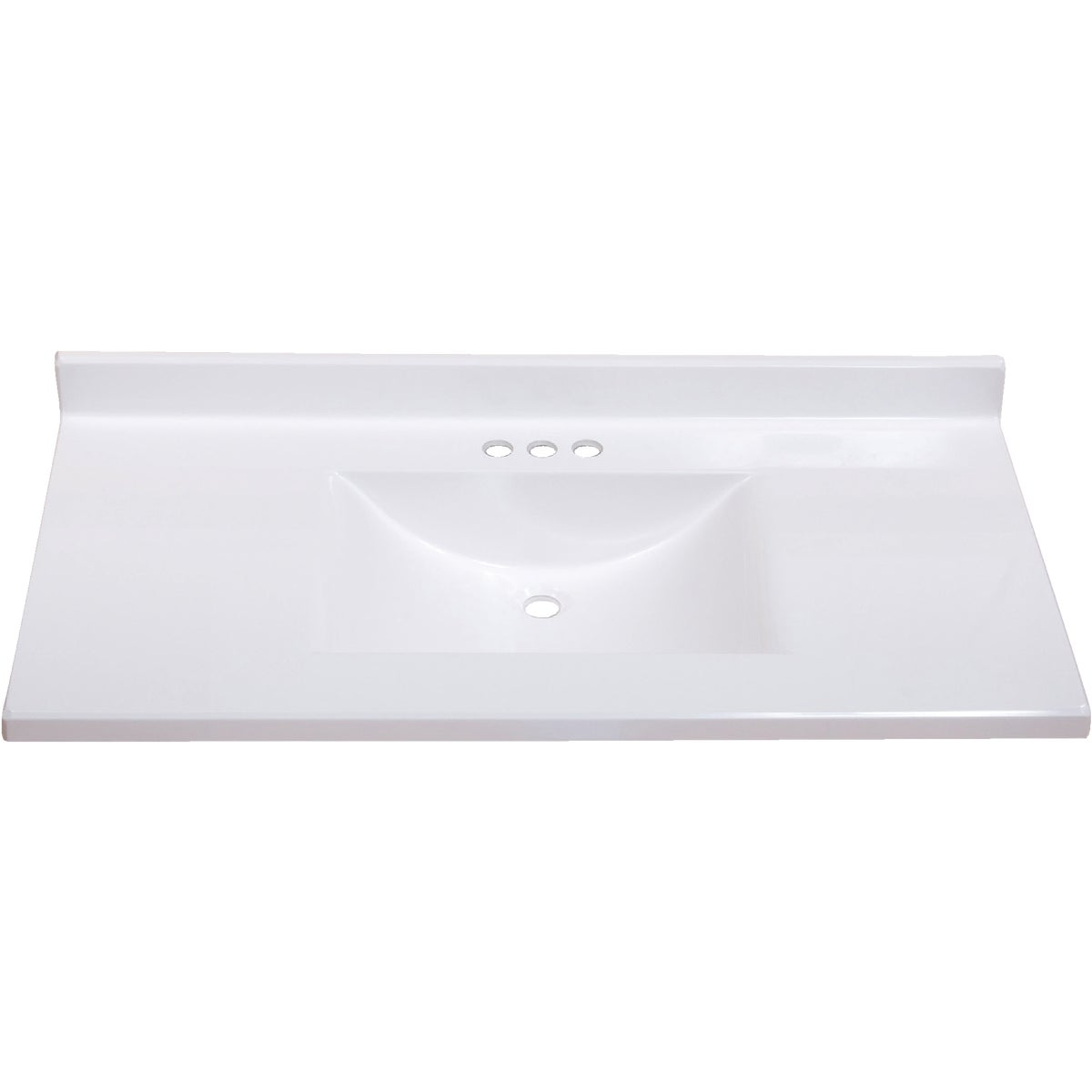 37X22 WHT WVE VANITY TOP - VW3722SPW by Imperial Marble Corp