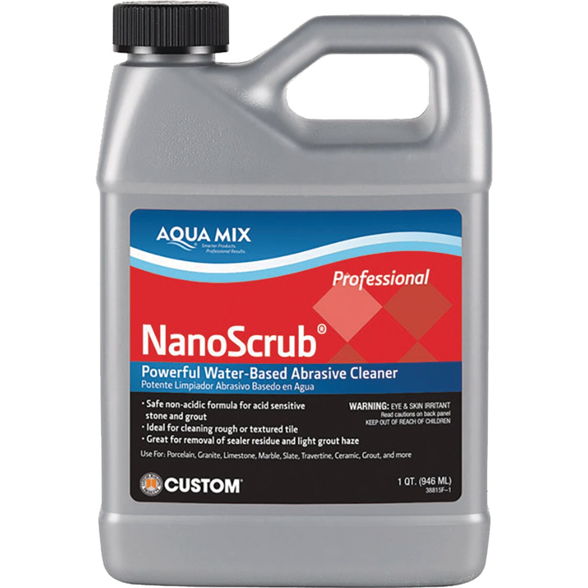 QT NANOSCRUB CLEANER - AMNSQT by Custom Building Prod