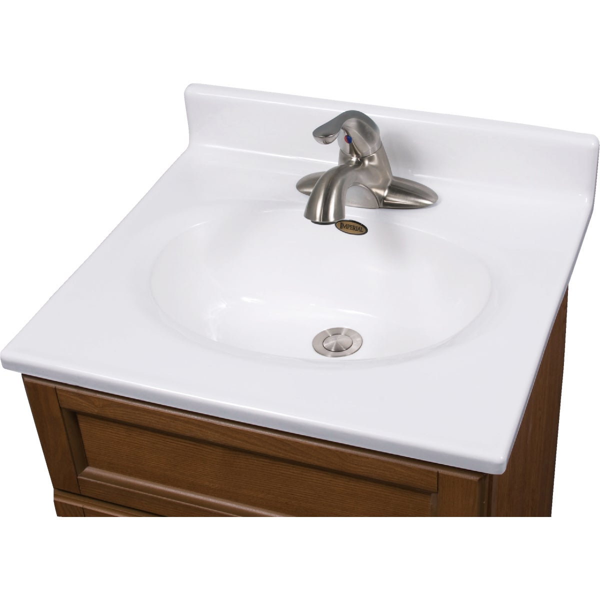 19X17 WHT VANITY TOP - VC1917SPW by Imperial Marble Corp