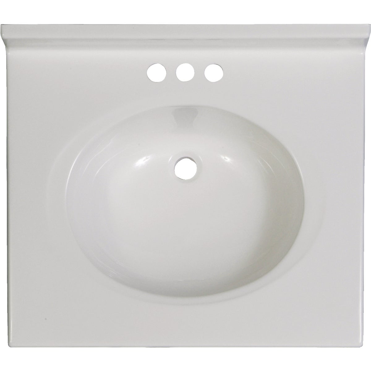 25X22 WHT VANITY TOP - VC2522SPW by Imperial Marble Corp