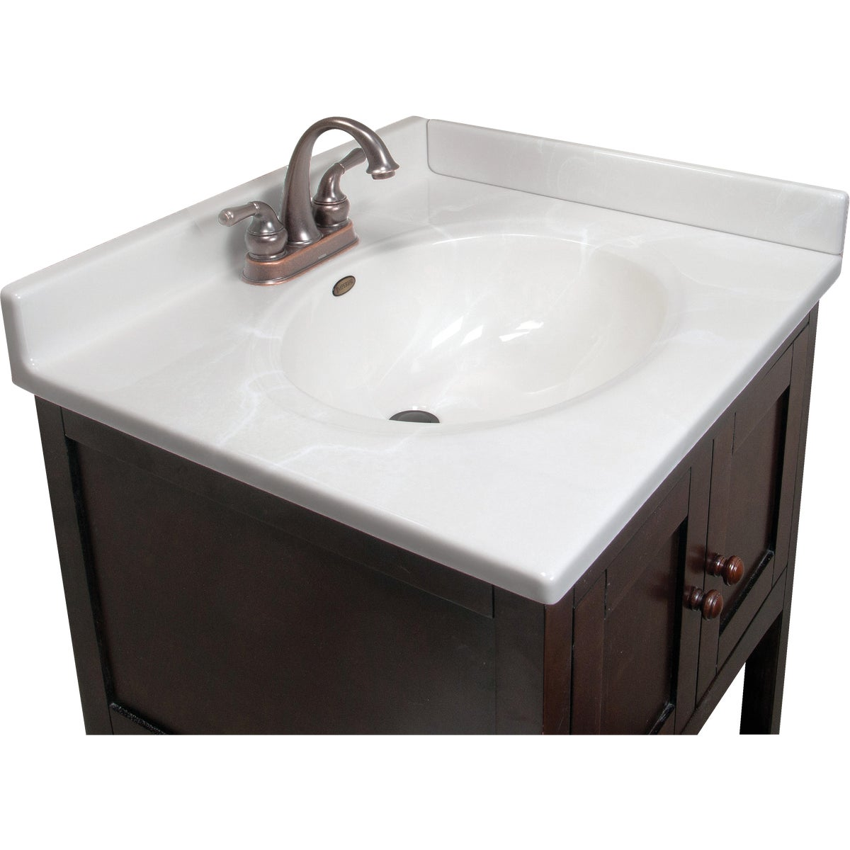 25X22 WHT/WHT VANITY TOP - VC2522W by Imperial Marble Corp