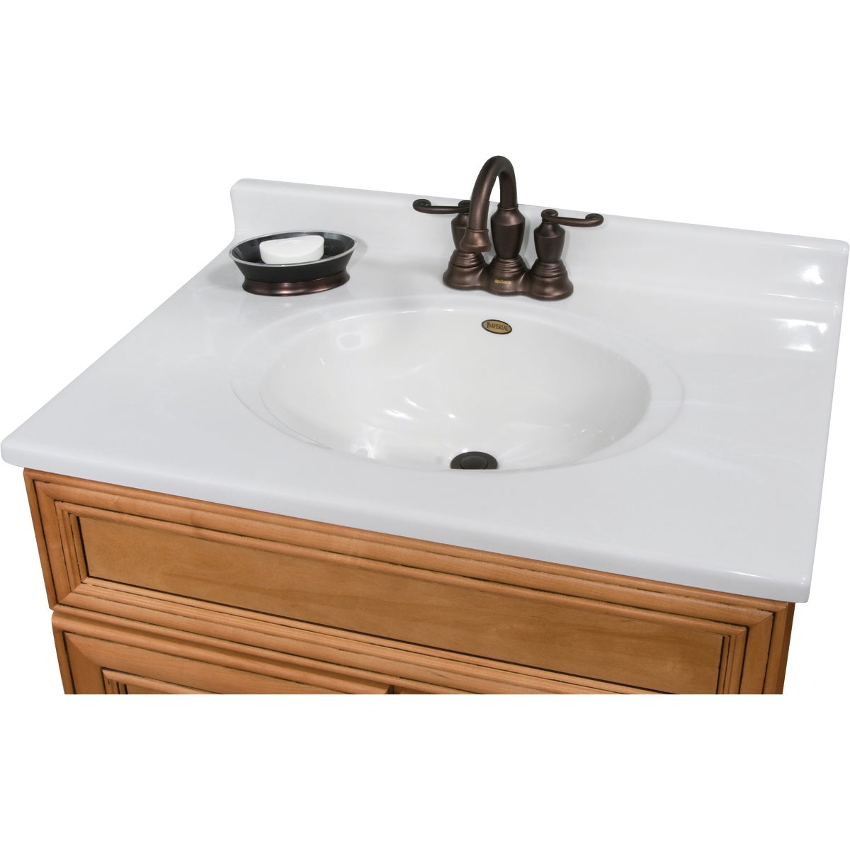 31X22 WHT/WHT VANITY TOP - VC3122W by Imperial Marble Corp