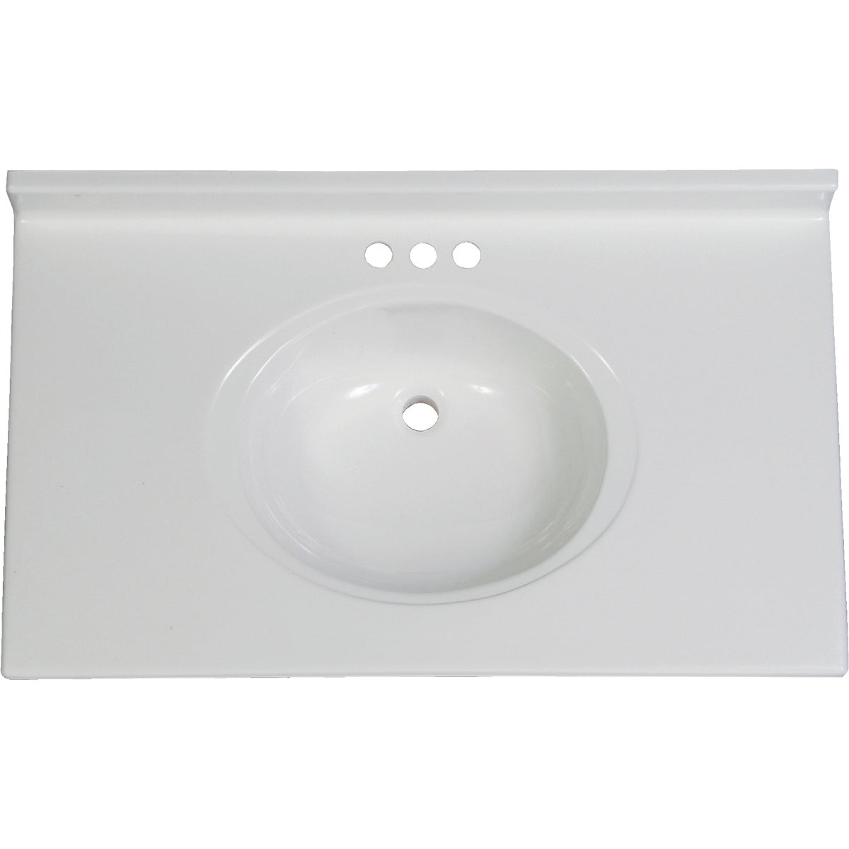 37X22 WHT VANITY TOP - VC3722SPW by Imperial Marble Corp