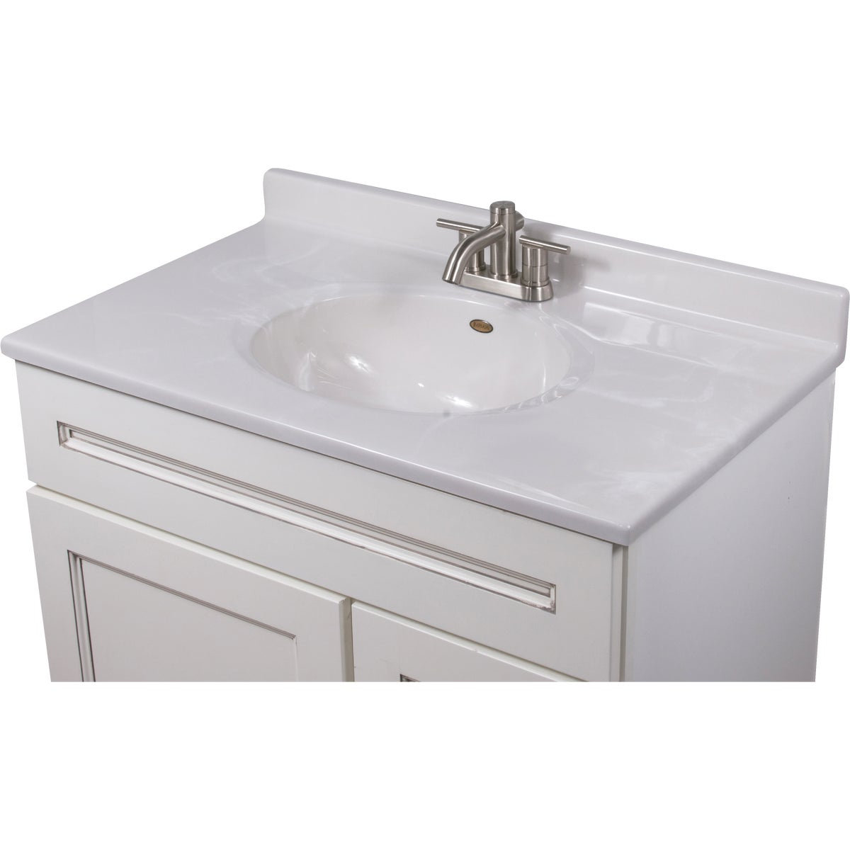 37X22 WHT/WHT VANITY TOP - VC3722W by Imperial Marble Corp