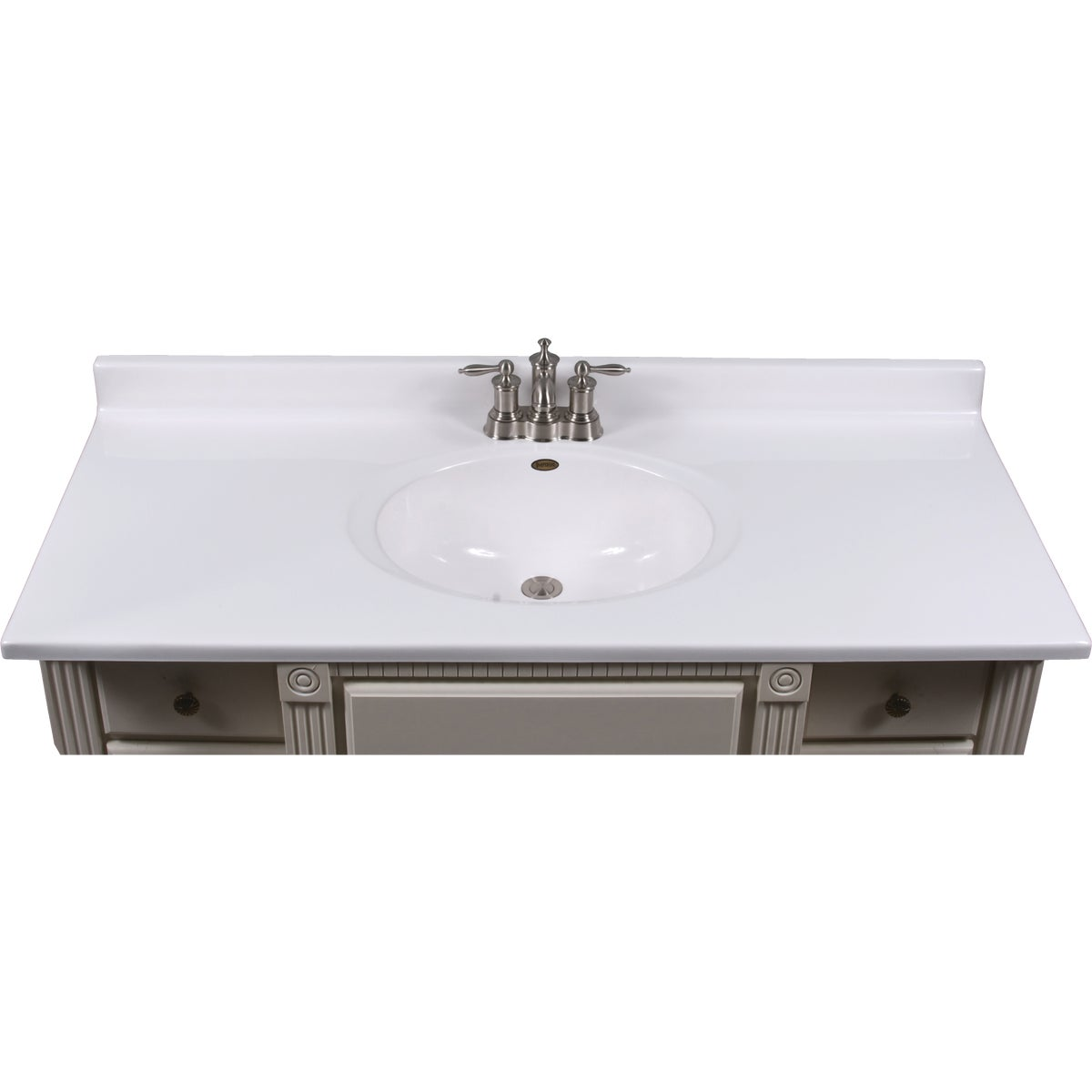 49X22 WHT VANITY TOP - VC4922SPW by Imperial Marble Corp