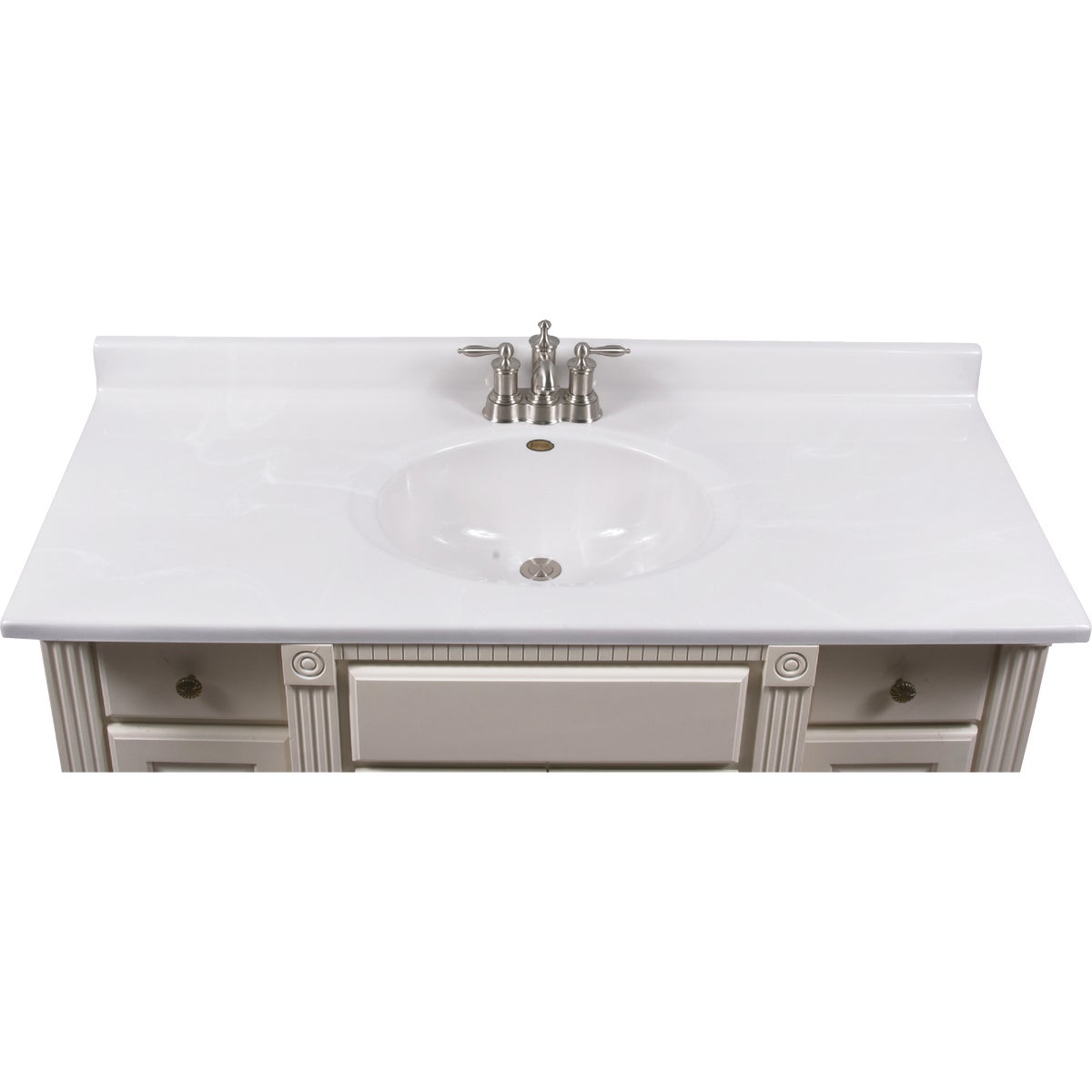 49X22 WHT/WHT VANITY TOP - VC4922W by Imperial Marble Corp