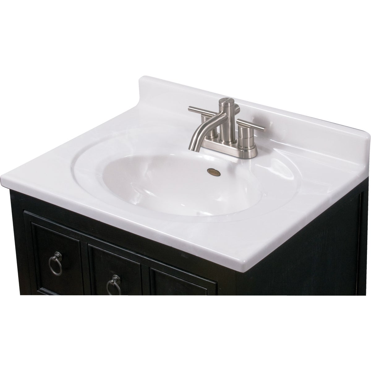 25X19 WHT/WHT VANITY TOP - VS2519W by Imperial Marble Corp