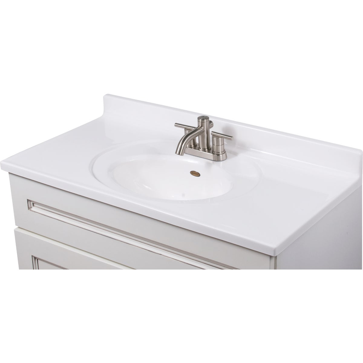 37X19 WHT VANITY TOP - VS3719SPW by Imperial Marble Corp