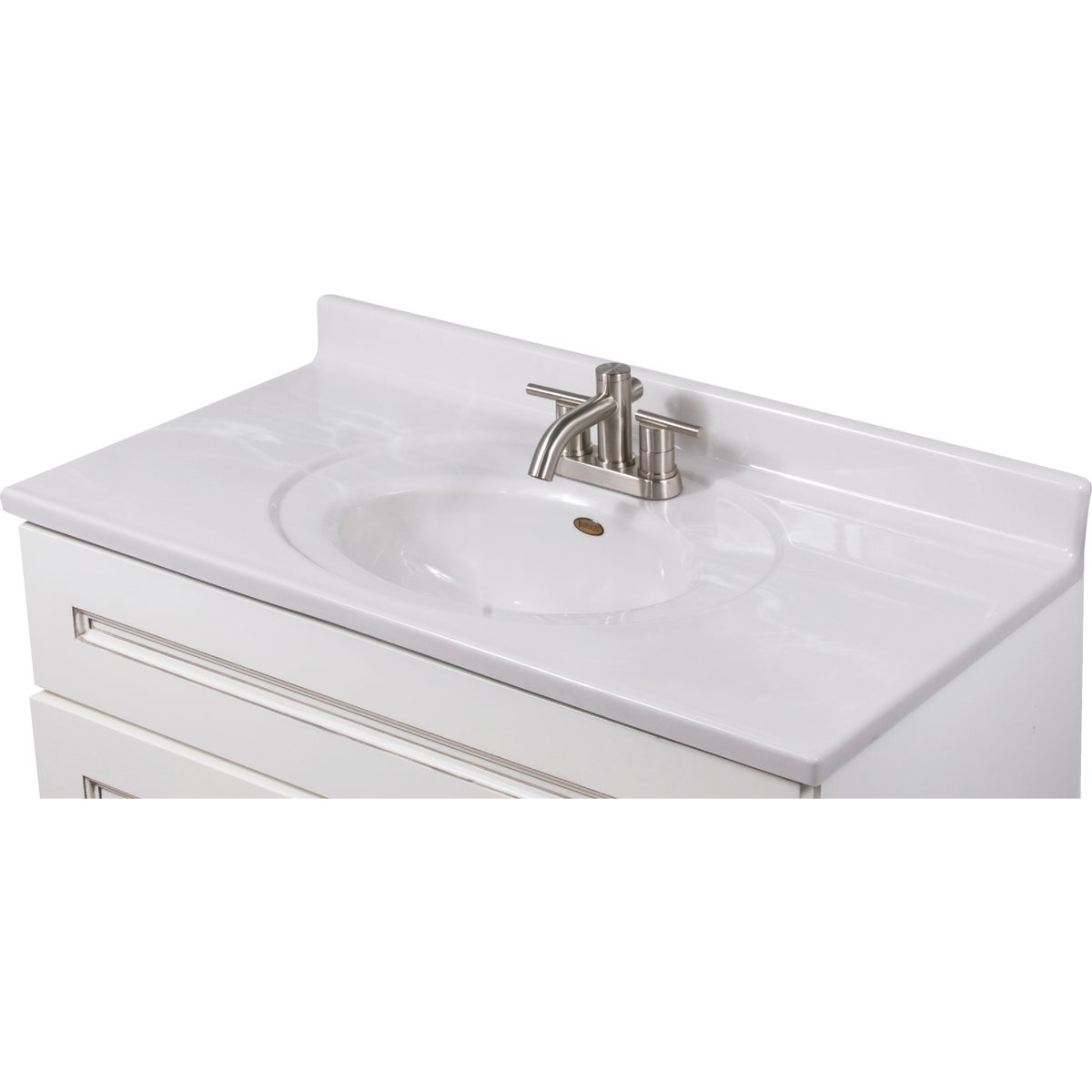 37X19 WHT/WHT VANITY TOP - VS3719W by Imperial Marble Corp