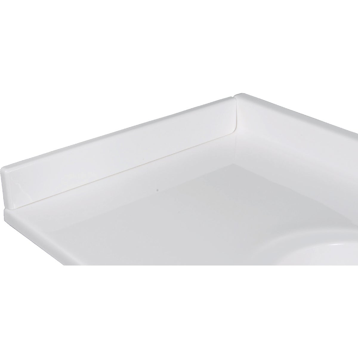 "22"" WHT LEFT SIDE SPLASH - VL100SPW by Imperial Marble Corp"