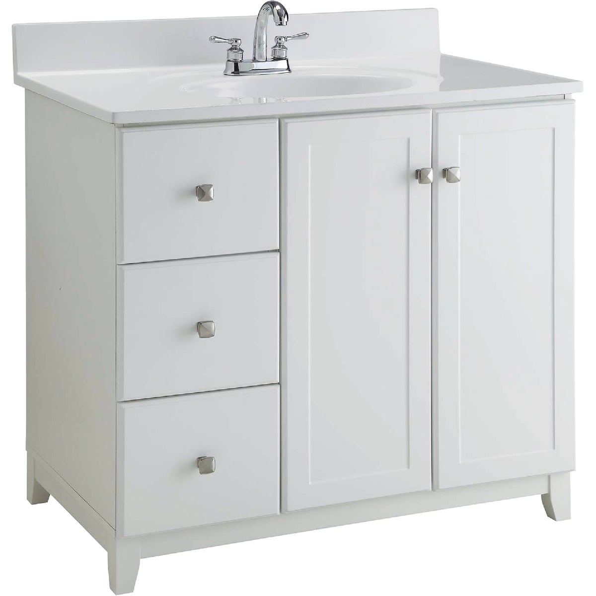 36X21 WHITE VANITY - 545095 by Design House  Dhi