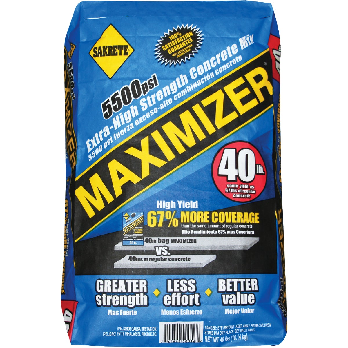 40LB MAXIMIZER CNCRT MIX - 65200016 by Sakrete Central LLC
