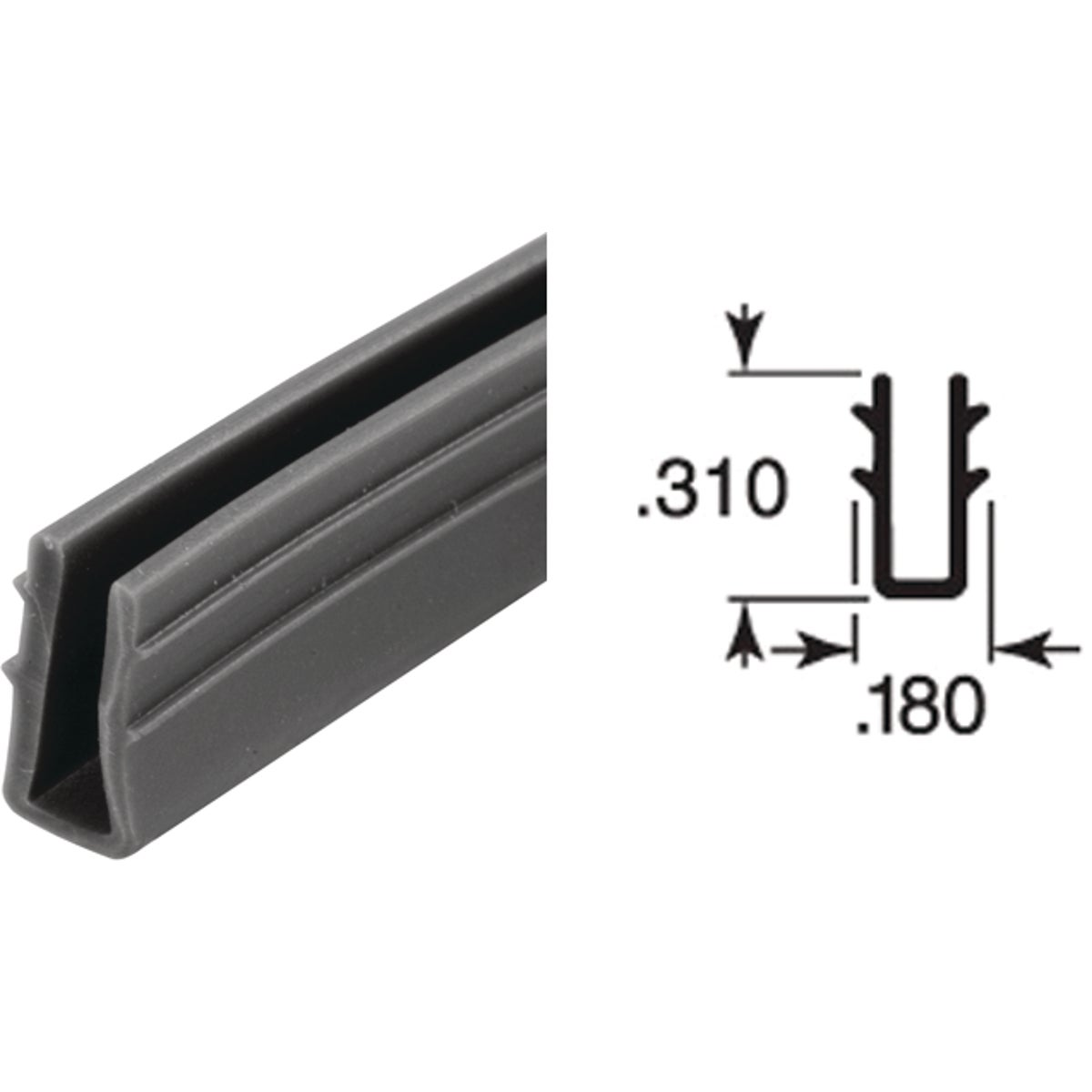 17/64X7/32X200 U-CHANNEL - P7738 by Prime Line Products