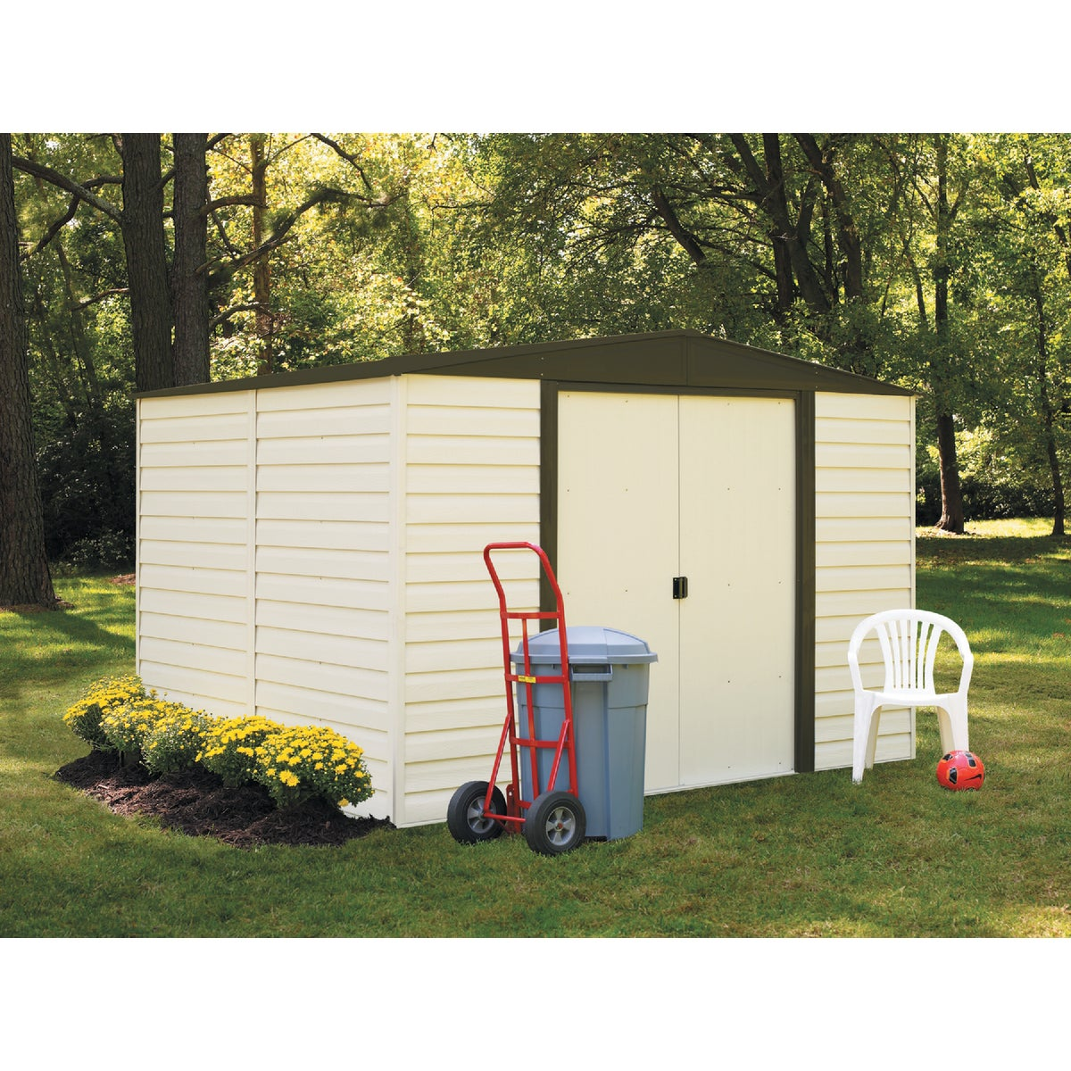 10X8 DALLAS VINYL SHED - VD108-A by Arrow Shed Llc