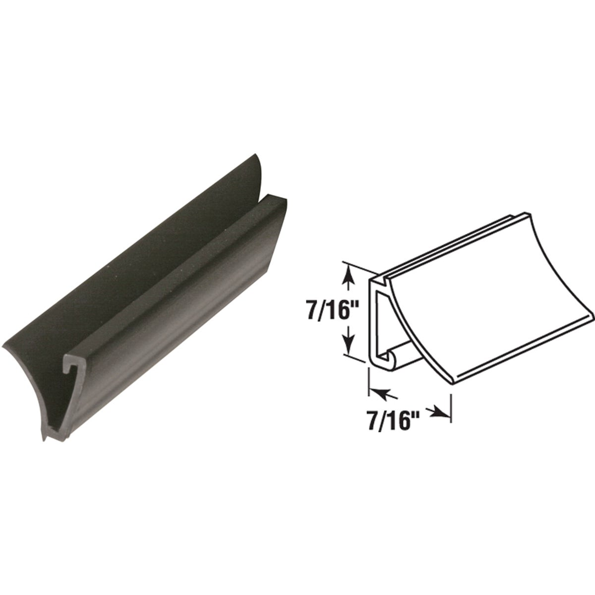 "72"" BLK RIGID SPLINE - P7815 by Prime Line Products"