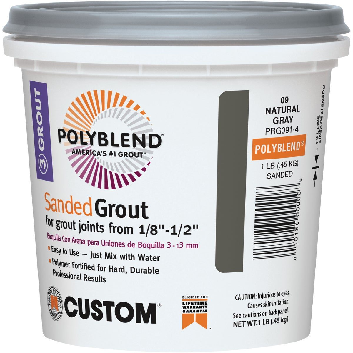 1# SANDED NAT GRAY GROUT - PBG091-4 by Custom Building Prod