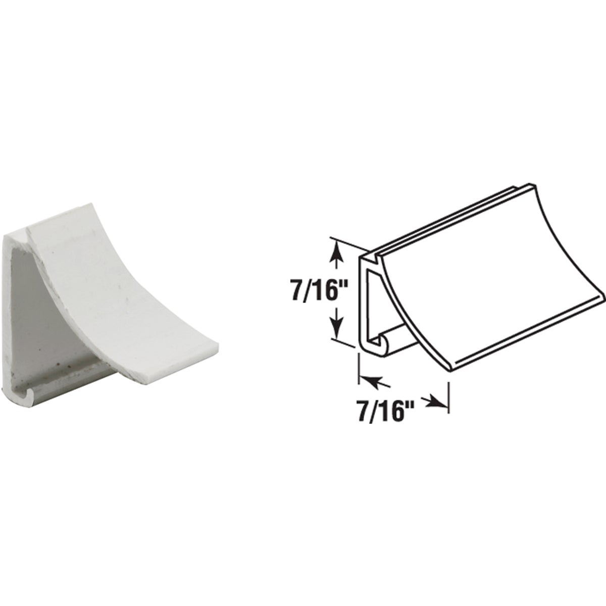 "72"" WHT RIGID SPLINE - P7866 by Prime Line Products"