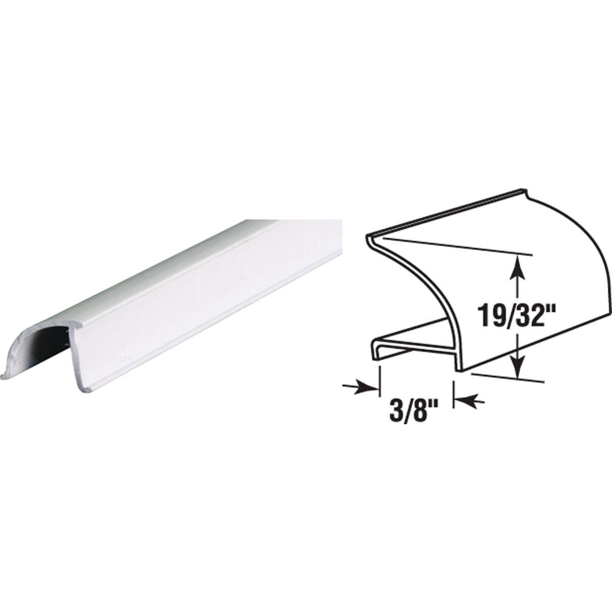 "72"" WHT RIGID SPLINE - P7867 by Prime Line Products"