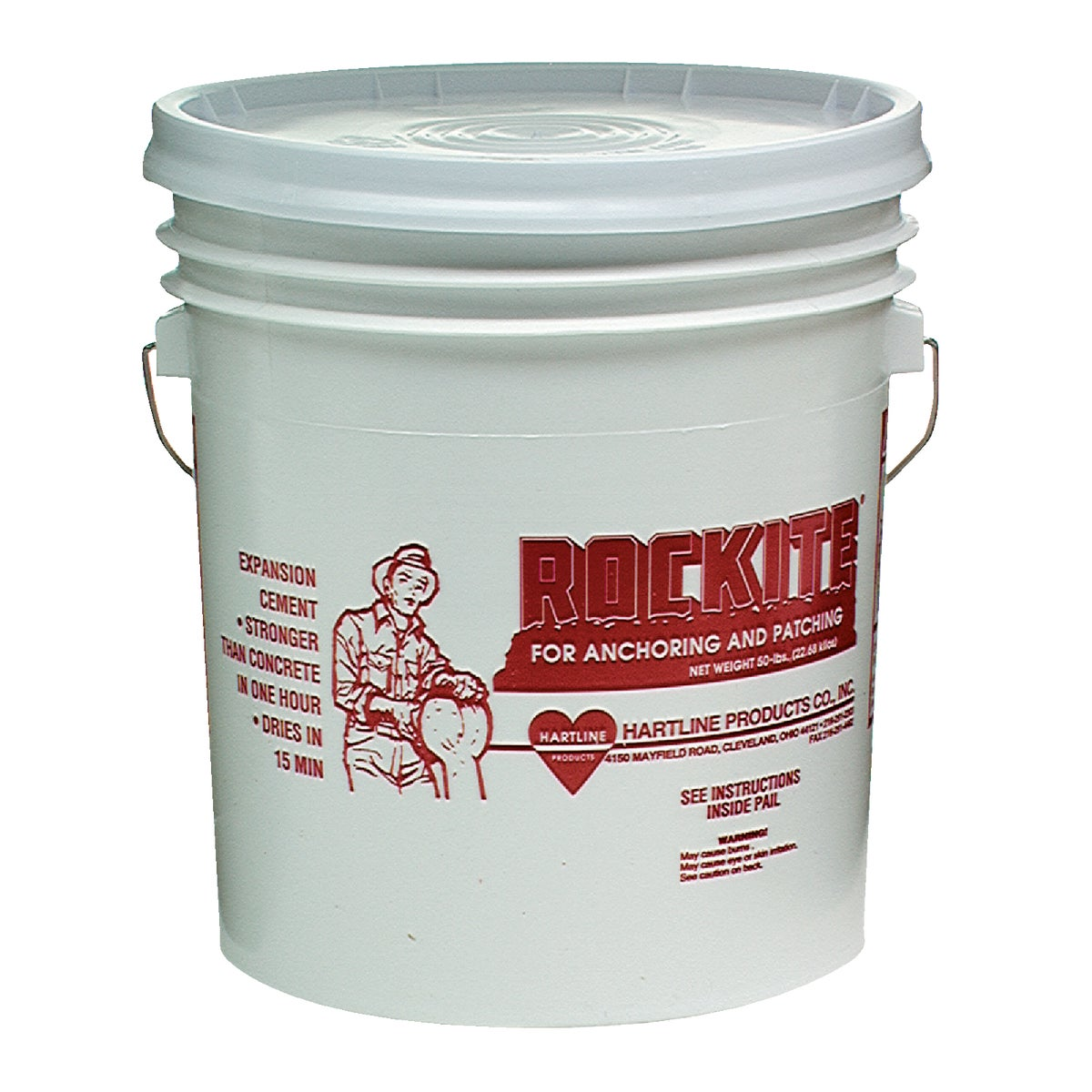 50LB ROCKITE CEMENT - 10051 by Hartline Products