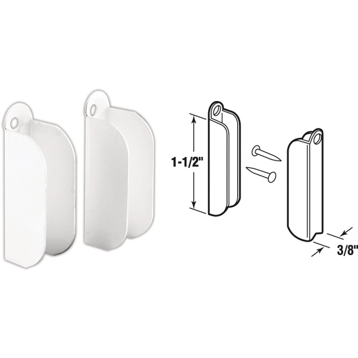 "6PK 3/8"" WHT TOP HANGER - PL8106 by Prime Line Products"