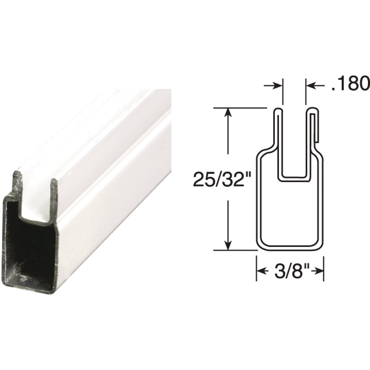 3/8X25/32X72WHT WN FRAME - PL14154 by Prime Line Products