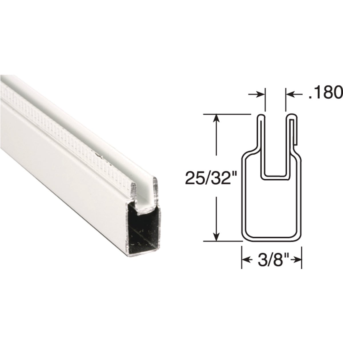 3/8X25/32X94WHT WN FRAME - PL14157 by Prime Line Products