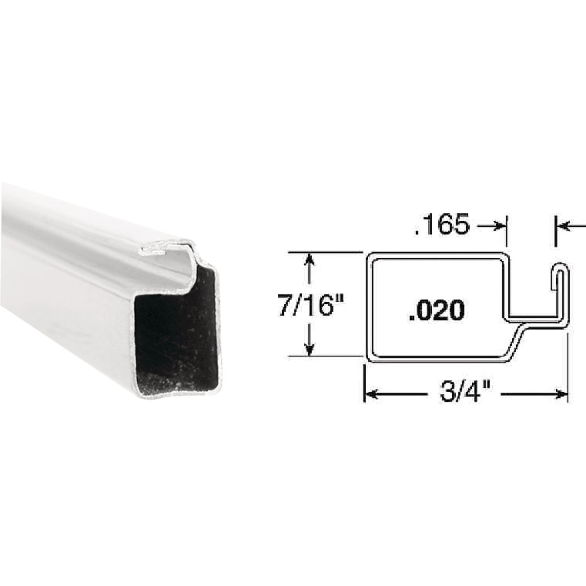 3/4X7/16X94WHT SCN FRAME - PL14042 by Prime Line Products