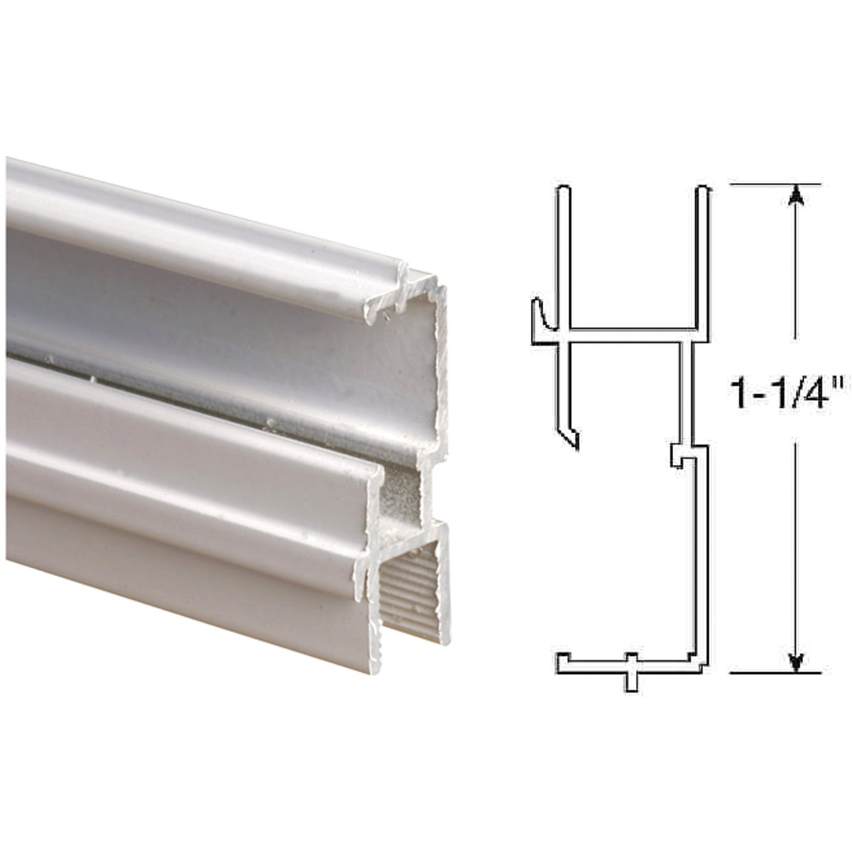 1-1/4WHT BTM TT WN FRAME - PL14194 by Prime Line Products