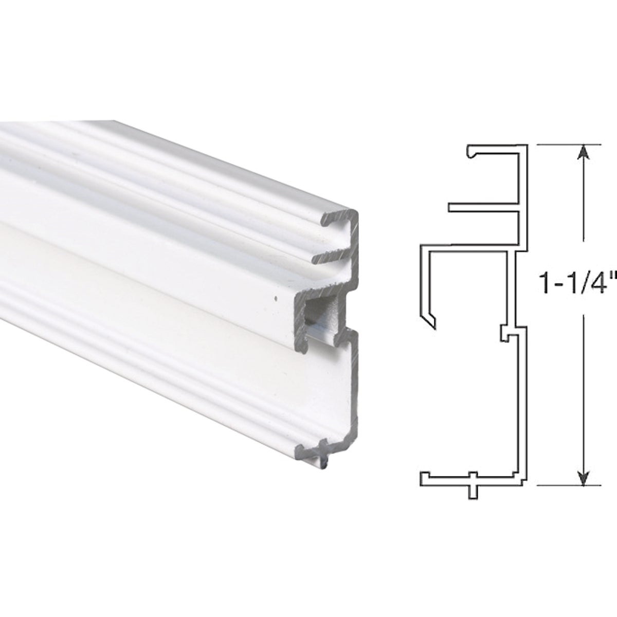 1-1/4WHT BTM TT SC FRAME - PL14206 by Prime Line Products